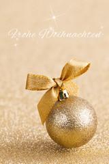 Frohe Weihnachten gold