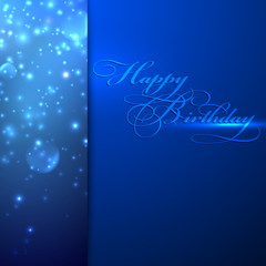 happy birthday. holiday background with sparkles