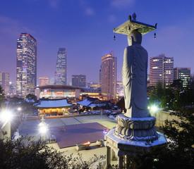 Aluminium Prints Seoul Seoul, South Korea at Bongeunsa Temple
