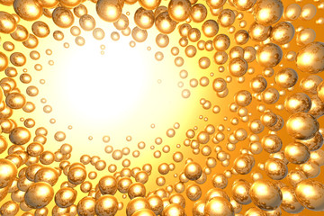 abstract background of  shiny golden balls