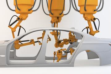 automatisierte Fahrzeugmontage