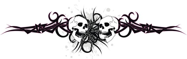 skull tribal tattoo vector