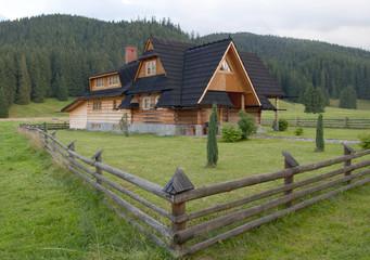 Fototapeta Wooden house - Tatra mountains Poland obraz