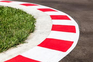 Kurven einer Rennstrecke - Autorennen