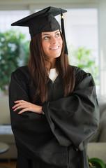 Portrait Of Happy Graduate Woman