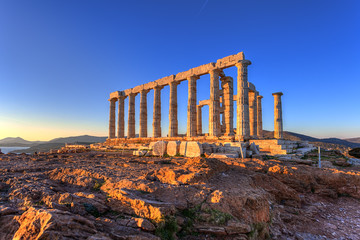 Wall Mural - Poseidon Temple ,Cape Sounion, Greece