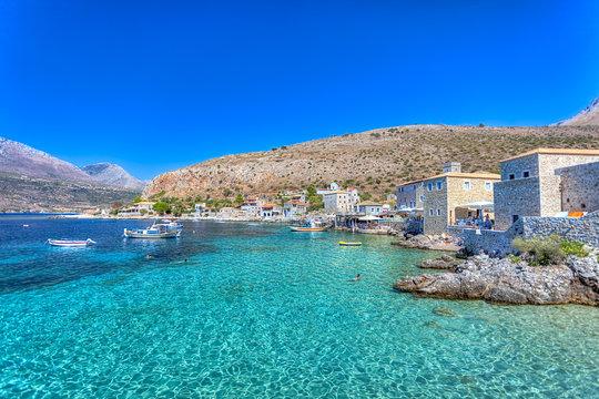 Limeni village in Mani, Greece