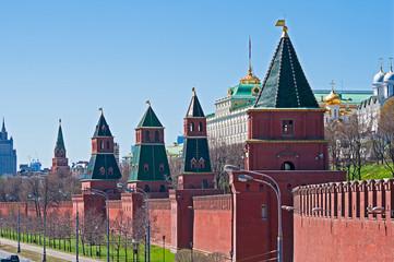 Fototapete - Moscow Kremlin wall