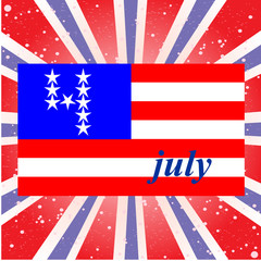 U.S. Independence Day, July 4, the background with the national