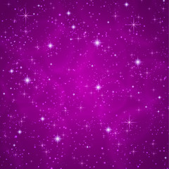 Abstract background: sparkling, twinkling stars. Universe