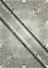 Light relief pattern on a satin steel background