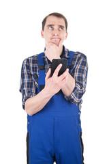 Handwerker sucht eine Lösung
