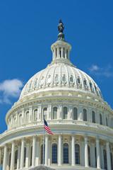 Washington DC Capital on deep blue sky background