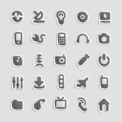 Sticker icons for technology