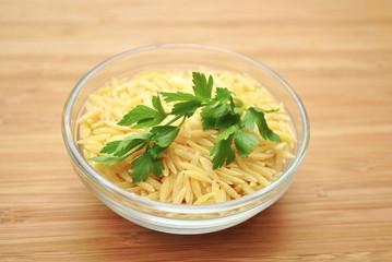 Parsley on Dry Pasta