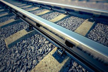 Railroad straight track. Wall mural