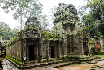 Ancient Ta Prohm or Rajavihara Temple