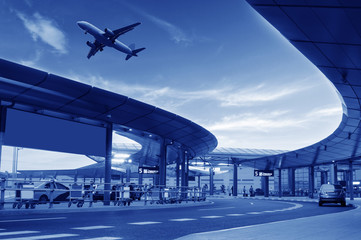 Fotobehang Luchthaven the scene of airport building in shanghai china