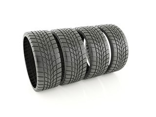 Four winter tires
