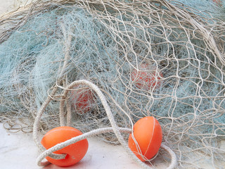 Fishing net color image