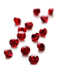 Beautiful gem stones, isolated on white