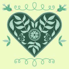 Vector ornate heart
