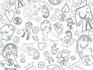 children pencil scribbles background