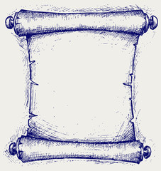 Old scroll. Doodle style