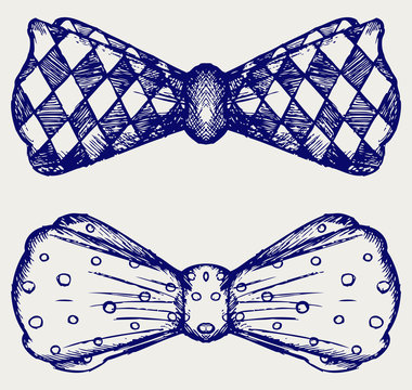 Bow-tie. Doodle style