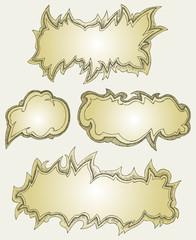 Speech bubbles. Doodle style