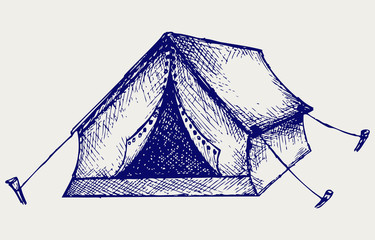Tent. Doodle style