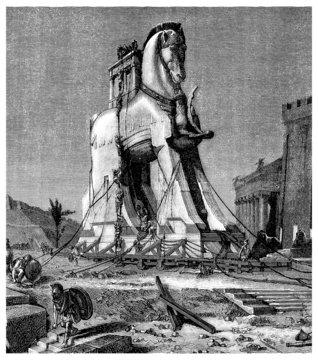 Trojan Horse - Greek Antiquity - Cheval de Troie