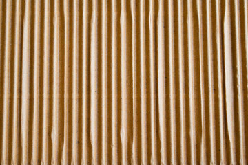 Textured corrugated striped cardboard with natural fiber parts