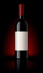 Bouteille de vin rouge vectorielle 2