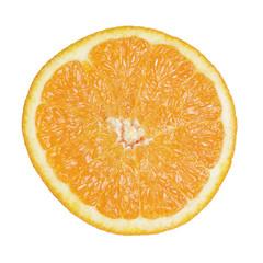 half cut of orange