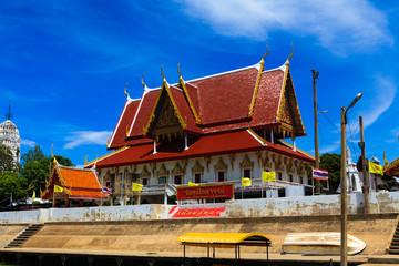 Thai temple at Ayutthaya in Thailand