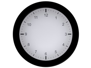 blank clock (without needles)
