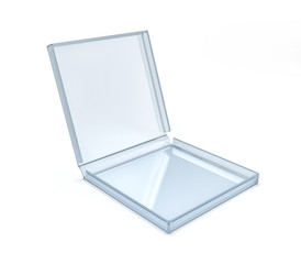 Glass box for pizza