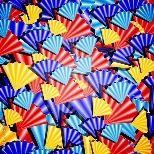 Разноцветный веер