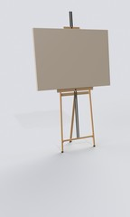 Single easel on the floor