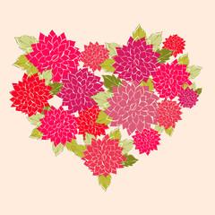 A flower Heart