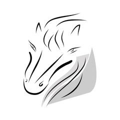 horse head vector graphic