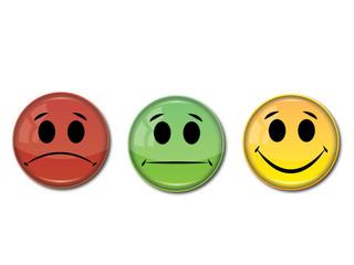 happy, sad, normal face icon
