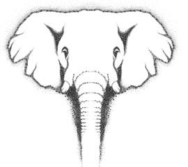 Wall Mural - Elephant Head Retro