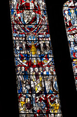 Beautiful stained glass in cathedral