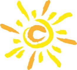 Sonne, Vektor, Logo, Zeichen, Symbol