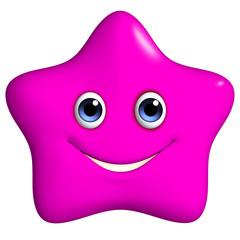 3d cartoon cute pink star