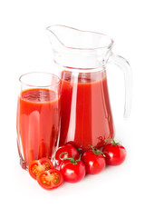 Fototapete - Tomato juice in a glass jug