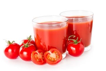 Fototapete - Tomato juice in a glass