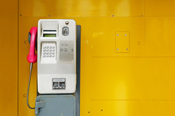Old public pay phone